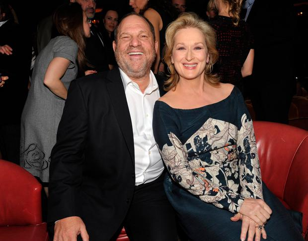 Harvey Weinstein (L) and actress Meryl Streep attend the Australian Academy Of Cinema And Television Arts International Awards Ceremony at Soho House on January 27, 2012 in West Hollywood, California. (Photo by John Shearer/WireImage)