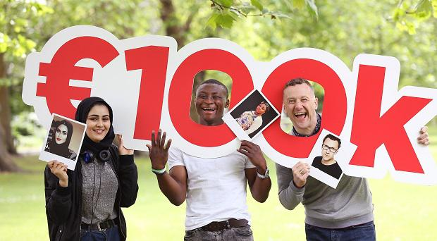 Thank You Fund 2017 is giving €100,000 to youth charities in Ireland. From L-R: Aseel Bukhatwa, Azeez Yusuff and PJ Gallagher.