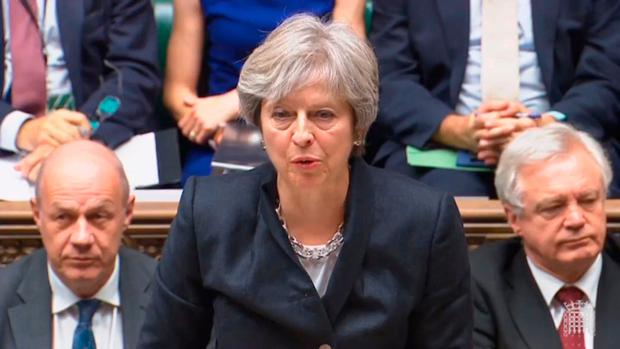 Prime Minister Theresa May updates MPs ion the House of Commons, London on the Brexit negotiations since her Florence speech last month PA Wire