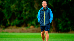 Stuart Lancaster wants to focus on the present rather than the past. Photo: Sportsfile