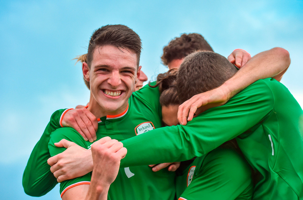 Ireland's Declan Rice celebrates with his team-mates. Photo: Sportsfile