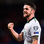 9 October 2017; Robbie Brady of Republic of Ireland celebrates following his side's victory during the FIFA World Cup Qualifier Group D match between Wales and Re   public of Ireland at Cardiff City Stadium in Cardiff, Wales. Photo by Seb Daly/Sportsfile