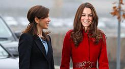 Crown Princess Mary of Denmark and Catherine Duchess of Cambridge arrive for a visit to the UNICEF emergency supply centre on November 2, 2011 in Copenhagen, Denmark. (Photo by Indigo - Pool/Getty Images)