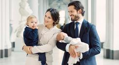 Prince Carl Philip and Princess Sofia of Sweden with sons Prince Gabriel and Prince Alexander. Picture: Erika Gerdemark, The Royal Court, Sweden