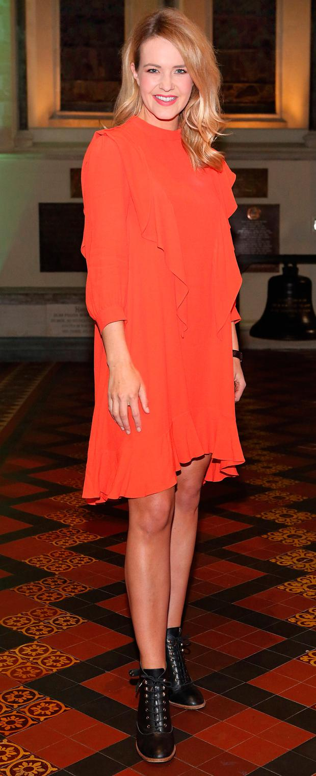 Aoibhin Garrihy at the launch of the Urban Decay Troublemaker mascara at St. Patrick's Cathedral, Dublin. Picture: Brian McEvoy