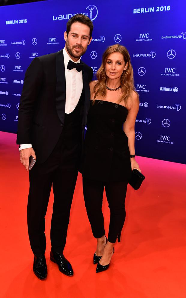 Jamie Redknapp and wife Louise Redknapp attend the 2016 Laureus World Sports Awards at Messe Berlin on April 18, 2016 in Berlin, Germany. (Photo by Gareth Cattermole/Getty Images for Laureus)