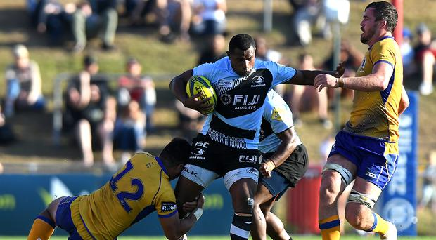 Eroni Vasiteri of Fiji takes on the defence during the round one NRC match between Brisbane and Fiji at Ballymore Stadium on September 2, 2017 in Brisbane, Australia. (Photo by Bradley Kanaris/Getty Images)
