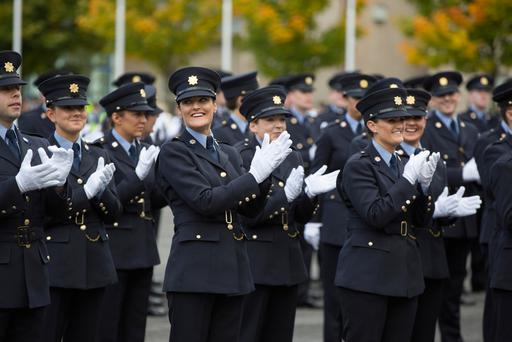 Gardaí passing out from training at the force's training college in Templemore. Photo: INM