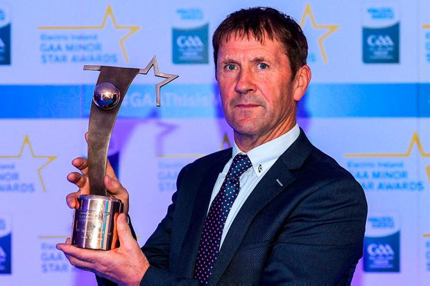 O'Connor collected the Electric Ireland Minor Star Special Merit Award at Croke Park at the weekend, after guiding Kerry to successive All-Ireland MFC titles in 2014 and 2015. Photo: Eóin Noonan/Sportsfile