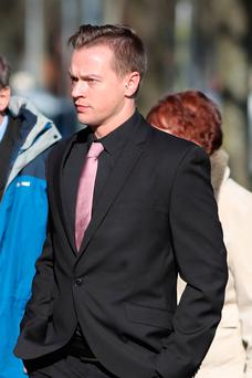 File photo dated 24/2/2017 of Matthew Scully-Hicks who is is on trail at Cardiff Crown Court accused of inflicting serious injuries on 18-month-old adopted daughter, Elsie Scully-Hicks, before her death in May 2016. Photo: Andrew Matthews/PA Wire