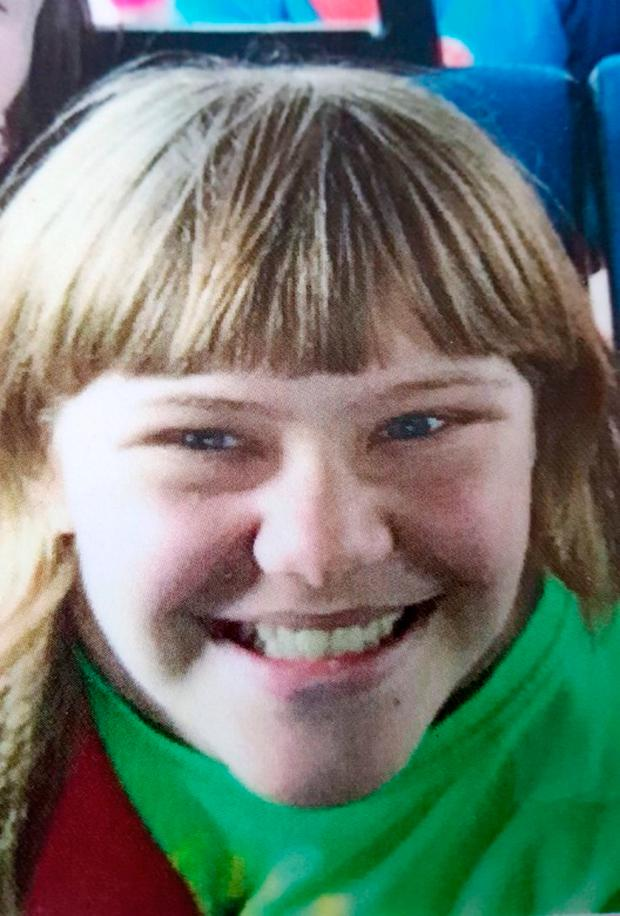 Undated handout photo issued by the British Transport Police of Sarah Athersmith, 14, who died after being hit by a train at the Wallows Lane foot rail crossing in Walsall, in the West Midlands. Photo: BTP/PA Wire