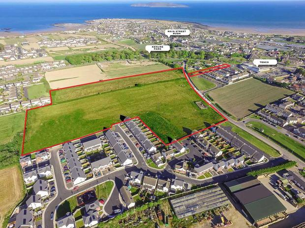 An aerial view of the site at Brook Lane in Rush, north county Dublin