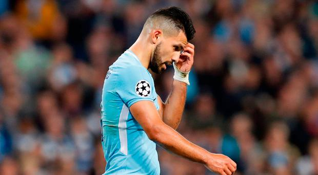 It was initially forecast by City that Aguero would be out for between two and four weeks but that was challenged by Argentina's national team doctor Photo: PA