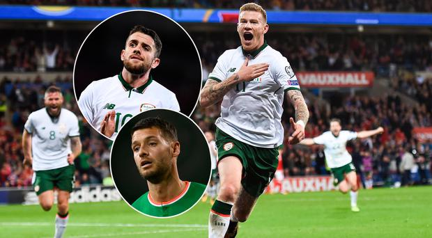 James McClean was Ireland's star man in qualifying campaign, Robbie Brady (inset, top) could do more while Wes Hoolahan (inset, bottom) is one of our ball players
