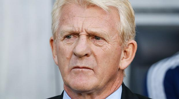 Head coach Gordon Strachan looks on prior to the FIFA 2018 World Cup Qualifier match between Slovenia and Scotland at stadium Stozice on October 08, 2017 in Ljubljana, Slovenia. (Photo by Srdjan Stevanovic/Getty Images)