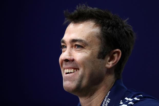 Cats coach Chris Scott talks to the media during a Geelong Cats AFL media session at Simonds Stadium on August 17, 2017 in Geelong, Australia. (Photo by Robert Cianflone/Getty Images)