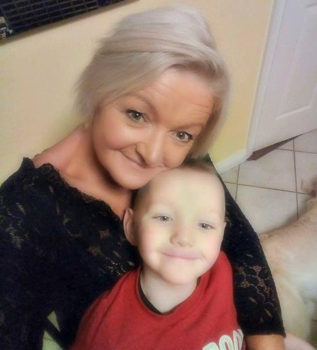Cathy Birmingham and her young son Max