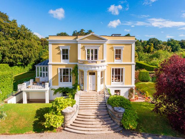 The exterior of Montebello in Killiney which is on the market for €9m