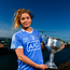 5 October 2017; AIG Insurance, proud sponsor of the Dubs celebrated the Dublin Footballers and Dublin Ladies Footballers double All-Ireland victory today by announcing great discounts on travel insurance for Dublin GAA fans. See www.aig.ie/dubs for more. Pictured at the event is Sinéad Finnegan of Dublin with the Brendan Martin Cup. Photo by Sam Barnes/Sportsfile