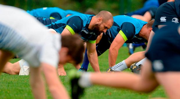 Leinster's Scott Fardy during squad training at Thornfields in UCD, Belfield, Dublin. Photo: Piaras Ó Mídheach/Sportsfile