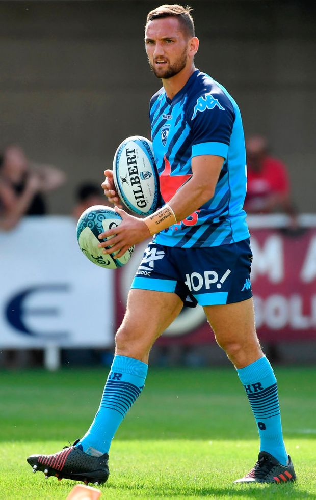 All Black Aaron Cruden is set to make his European debut for Montpellier in Dublin tomorrow Photo: PASCAL GUYOT/AFP/Getty Images