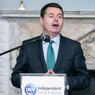 Minister for Finance Pascal Donohoe TD at Budget 2018 presented by INM and sponsored by KPMG in the Stephens Green Hibernian Club. Photo: Kyran O'Brien
