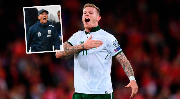 'James McClean won't be playing for me after what he's done to Wales' - West Brom boss jokes about Irish hero