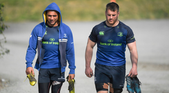 Isa Nacewa, left, and Sean O'Brien of Leinster