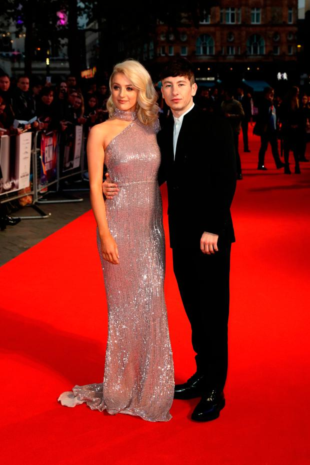 Barry Keoghan (R) and girlfriend Shona Guerin attend the Headline Gala Screening & UK Premiere of