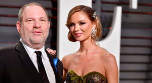 Co-Chairman, The Weinstein Company Harvey Weinstein (L) and fashion designer Georgina Chapman attend the 2017 Vanity Fair Oscar Party hosted by Graydon Carter at Wallis Annenberg Center for the Performing Arts on February 26, 2017 in Beverly Hills, California. (Photo by Pascal Le Segretain/Getty Images)