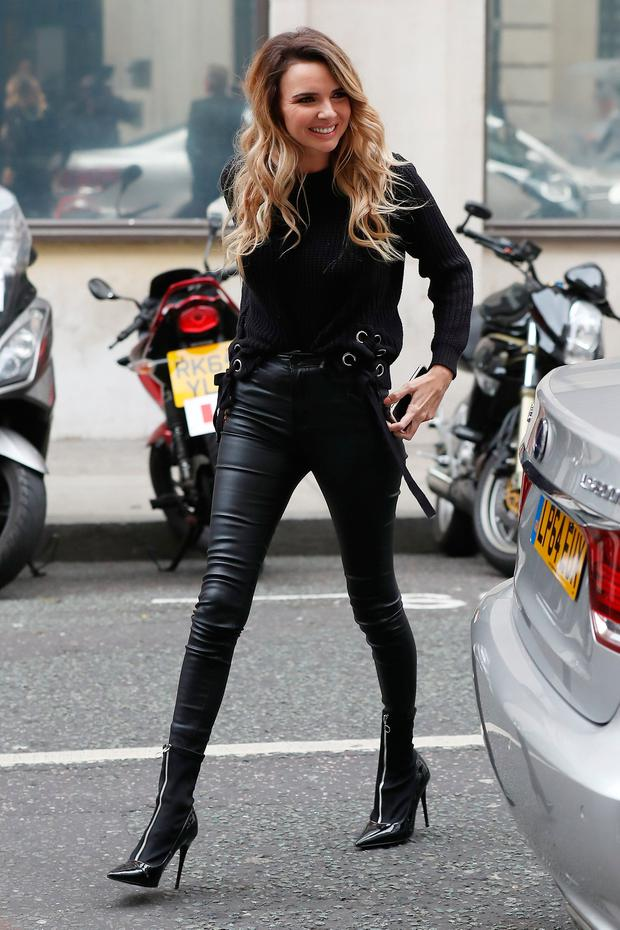 Nadine Coyle seen at BBC Radio 2 on October 10, 2017 in London, England. (Photo by Neil Mockford/GC Images)