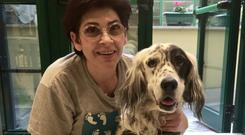 Anna and her dog Cucciola. Pic: Lav animal advocacy group Facebook page