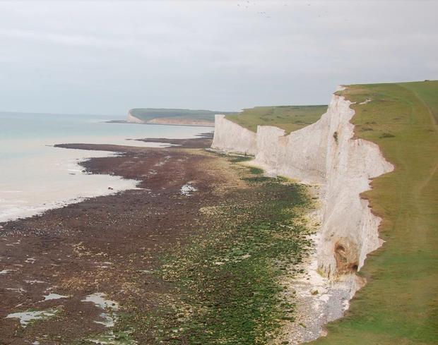 She was enjoying a day out at the Seven Sisters