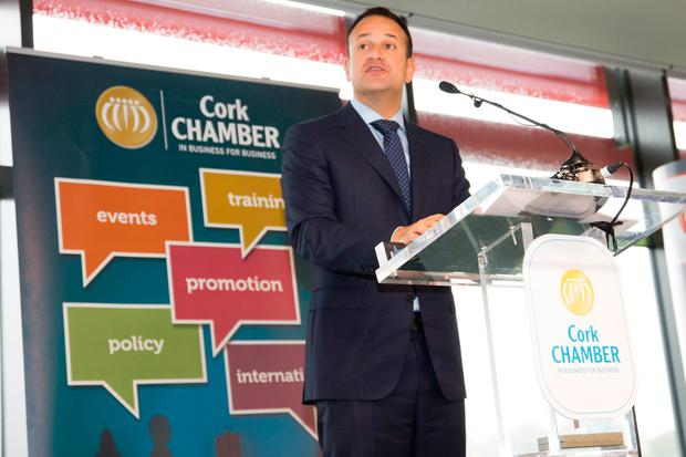 An Taoiseach Leo Varadkar answers Chambers call for M20 route to be completed, at Cork Chamber's Business Breakfast at Pairc Ui Chaoimh.