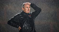 13 October 2017; Cork City manager John Caulfield during the SSE Airtricity League Premier Division match between Bohemians and Cork City at Dalymount Park in Dublin. Photo by Stephen McCarthy/Sportsfile
