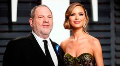 Harvey Weinstein and fashion designer Georgina Chapman at the Oscars Vanity Fair Party in Beverly Hills, California, in February. Photo: Danny Moloshok