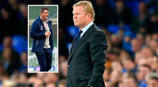 Ronald Koeman and (inset) Roy Keane