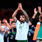 Shane Duffy celebrates following victory in Wales