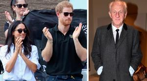 Meghan Markle and Prince Harry, left, and Paul Costelloe, right