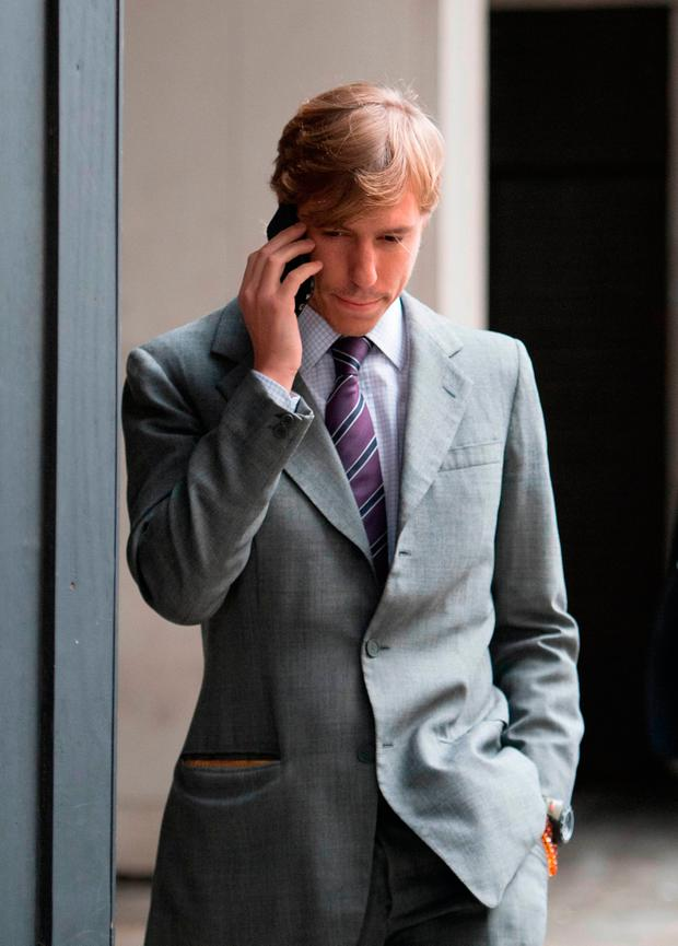 Prince Louis of Luxembourg, a member of a European royal family, leaves the High Court in London where he is embroiled in a fight over money with his estranged wife Princess Tessy in Family Division of the High Court