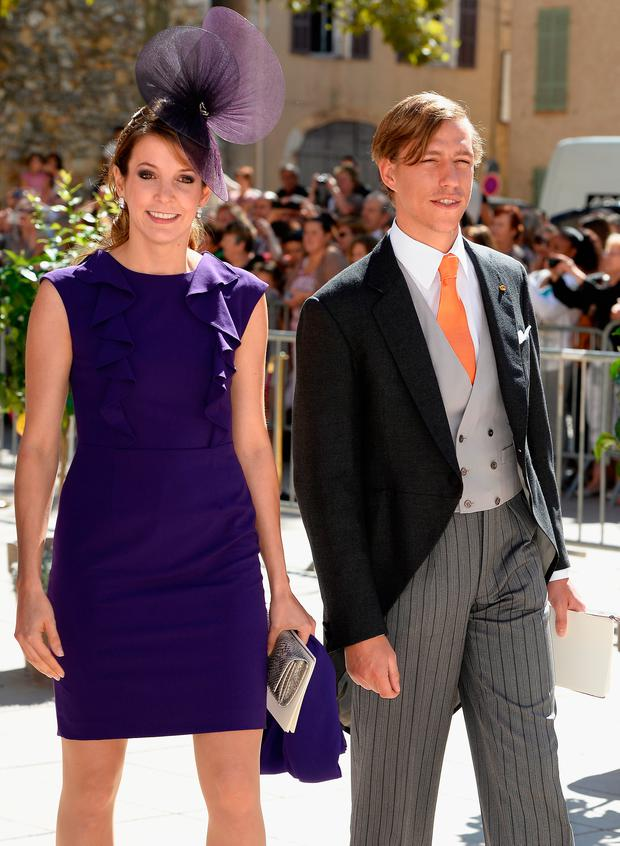 Princess Tessy Of Luxembourg and Prince Louis Of Luxembourg depart from the Religious Wedding Of Prince Felix Of Luxembourg and Claire Lademacher at the Basilique Sainte Marie-Madeleine on September 21, 2013 in Saint-Maximin-La-Sainte-Baume, France. (Photo by Pascal Le Segretain/Getty Images)