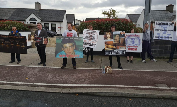The protest in Dublin