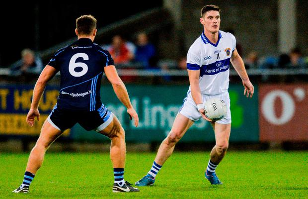 Diarmuid Connolly of St Vincent's in action against Paul Courtney of St Jude's during the Dublin County Senior Football Championship Semi-Final match between St Vincent's and St Jude's at Parnell Park in Dublin. Photo by Piaras Ó Mídheach/Sportsfile