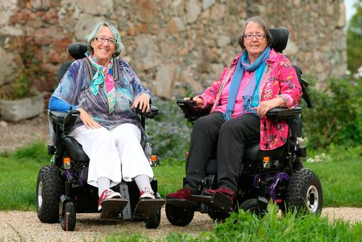Heartbreaking: Devoted 64-year-old twin sisters Ann and Margaret Kennedy, who have had extremely complicated medical histories, say they feel utterly hopeless and fearful of what the future might hold. Photo: Gerry Mooney