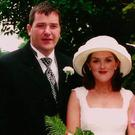 Anthony Foley with his wife, Olive, on their wedding day