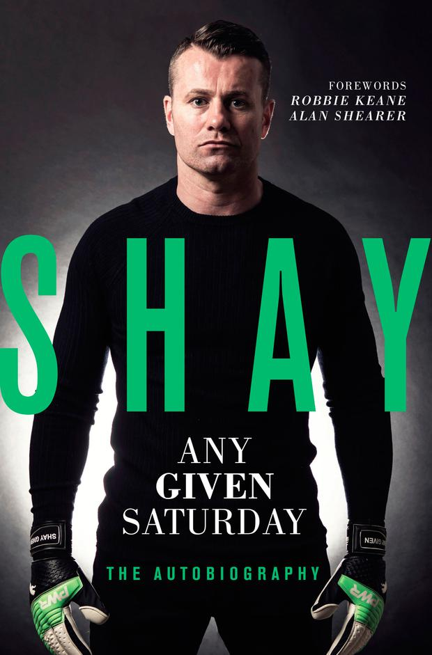 Shay: Any Given Saturday is published by Trinity Mirror Sport Media. It is on sale from this Thursday. Shay will be signing copies of the book on Saturday next at noon in Dublin, at the Eason store on O'Connell St. He will also be in the Eason store in Letterkenny on Sunday at 1pm; Dubray, Shop St Galway on November 11 at 11am; O'Mahony's Bookshop, O'Connell St, Limerick on November 11 at 3pm; and the Eason store on Donegall Place, Belfast on December 3 at 1.30pm