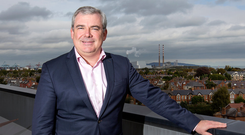 Bernard Byrne, ceo of AIB, at AIB Bank Centre in Ballsbridge. Picture: Frank McGrath