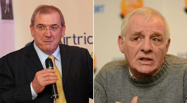 Eoin Hand and Eamon Dunphy