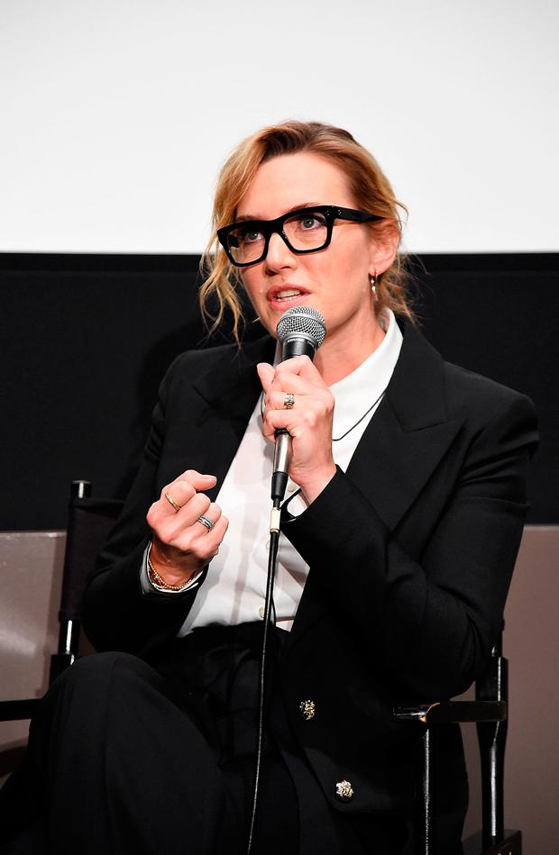 Actress Kate Winslet takes part in a conversation during the 55th New York Film Festival at the Elinor Bunin Munroe Film Center on October 13, 2017 in New York City. (Photo by Michael Loccisano/Getty Images)
