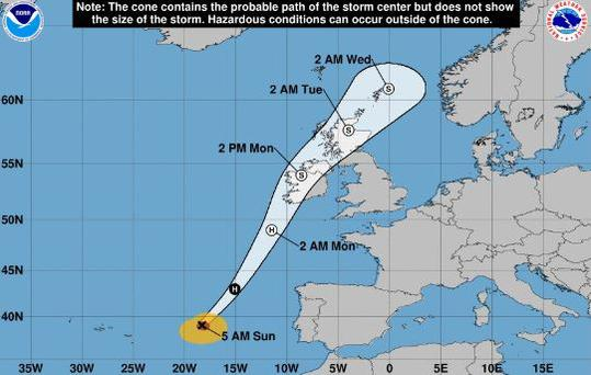 Latest guidance from the National Hurricane Centre. Bear in mind times shown are AST so add 5 hours.